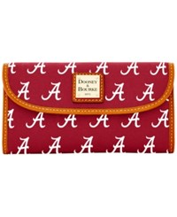 Dooney And Bourke Alabama Crimson Tide Ncaa Large Continental Clutch Red