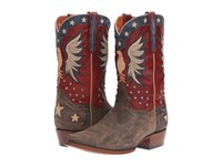 Dan Post Bountiful Bay Apache Red Cowboy Boots Brown