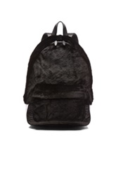 Alexander Wang Kangaroo Shearling Backpack In Black Animal Print