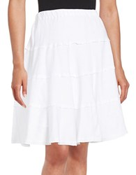 Context Tiered A Line Skirt True White