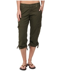 Prana Kelly Capri Cargo Green Women's Capri