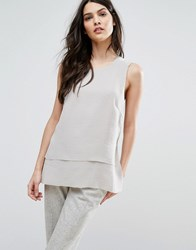 Selected Femme Cory Cross Back Top Dove Grey