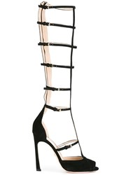 Giambattista Valli Tall Caged Sandals Black