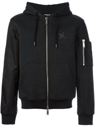 Dsquared2 Bomber Sleeve Hoodie Black