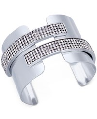 Inc International Concepts Pave Cuff Bracelet Created For Macy's Silver