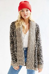 Ecote Curl Up Cardigan Neutral Multi