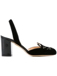 Charlotte Olympia 'Kitty' Sling Back Pumps Black