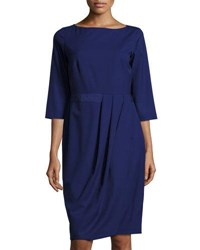 Lafayette 148 New York Delfino Ruched 3 4 Sleeve Dress Dusk