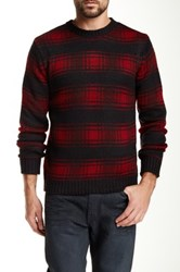 Native Youth Logger Check Crew Neck Sweater Multi