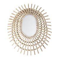 Bloomingville Woven Cane Mirror