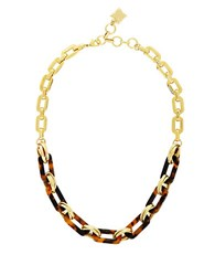 Bcbgmaxazria Tortoise Chain Link Necklace