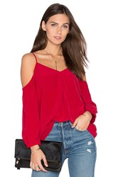 Joie Eclipse Cold Shoulder Blouse Red