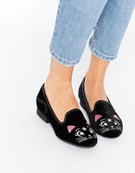 Y R U Yru Luna Animal Slipper Shoes Black
