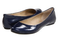 Kenneth Cole Reaction Slip On By Midnight Patent Women's Flat Shoes Navy
