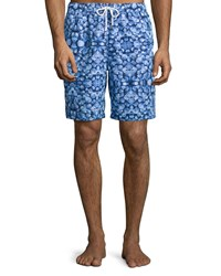 Peter Millar Nautical Nonsense Swim Trunks Navy