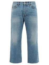 Balenciaga Cropped Straight Leg Jeans Light Blue