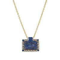 Cathy Waterman Horse Pendant Necklace Blue