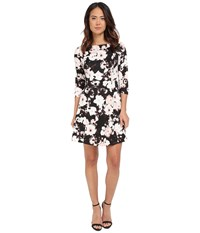 Vince Camuto Printed 3 4 Sleeve Fit And Flare Print Women's Dress Multi