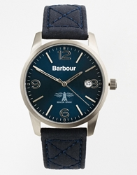 Barbour Quilted Strap Watch Blue
