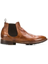 Officine Creative Princeton Chelsea Boots Brown