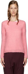 Comme Des Garcons Pink Mohair Sweater