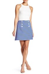 Clover Canyon Striped Suiting Skirt Black