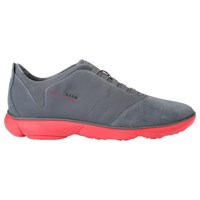 Geox Nebula 3D Breathing Trainers Charcoal Red