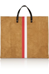 Clare V. Simple Leather And Suede Tote