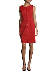 Lafayette 148 New York Addison Solid Dress Ruby Red
