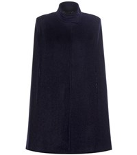 Stella Mccartney Wool Blend Cape Blue