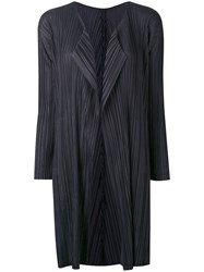 Issey Miyake Pleats Please By Pleated Coat Women Polyester 3 Grey