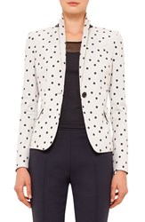 Women's Akris Punto Polka Dot Stretch Cotton Blazer