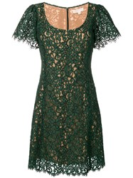 Michael Michael Kors Shortsleeved Lace Dress Green