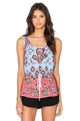 Clover Canyon Modern Paisley Tank Teal
