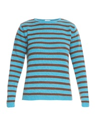 Stella Jean Yonkers Striped Wool Blend Sweater