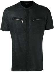 John Varvatos Zip Pocket T Shirt Black