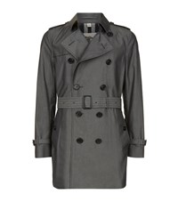 Burberry London The Kensington Mid Length Heritage Trench Coat Male Dark Grey