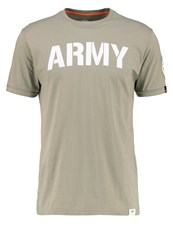 Alpha Industries Print Tshirt Olive