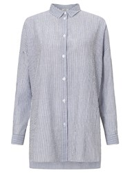 Minimum Mounia Thin Stripe Shirt Twilight Blue