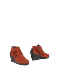 Pons Quintana Ankle Boots Rust