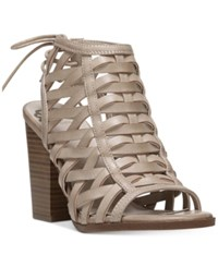 Fergalicious Vision Block Heel Sandals Women's Shoes Nude