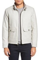 Kenneth Cole Men's New York Wool Blend Bomber Jacket Charcoal