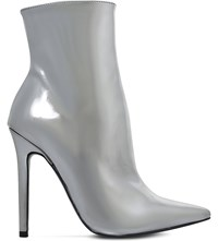 Carvela Good Metallic Ankle Boots Silver