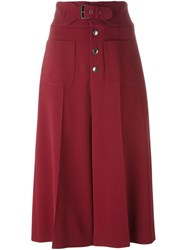 Red Valentino High Waisted Culottes Red