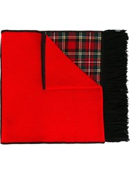 I'm Isola Marras Tartan Detail Scarf Red