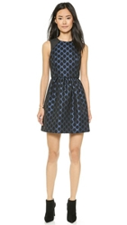 4.Collective Flirty Dot Jacquard Dress Navy Multi