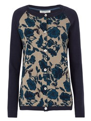 Tulchan Raglan Rose Cardigan Blue