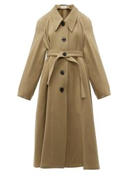 Christophe Lemaire Oversized Point Collar Wool Coat Camel