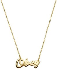 Obey Jewellery Necklaces Women Gold