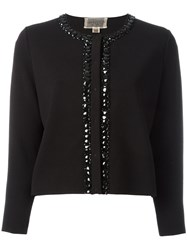 Giambattista Valli Embellished Trim Jacket Black